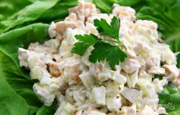салат с куриным филе пошаговый рецепт с фото
