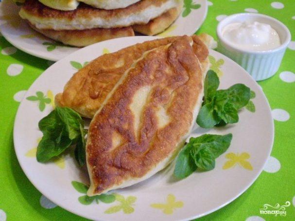 Пирожки с капустой и грибами жареные