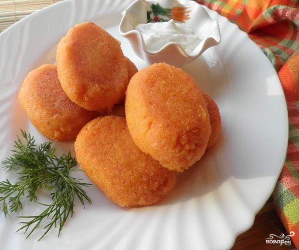 Котлеты из моркови с манкой рецепт с фото