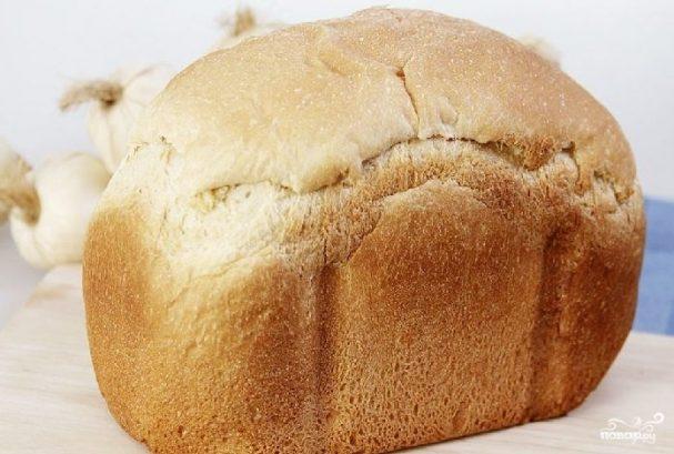 Чесночный хлеб в хлебопечке