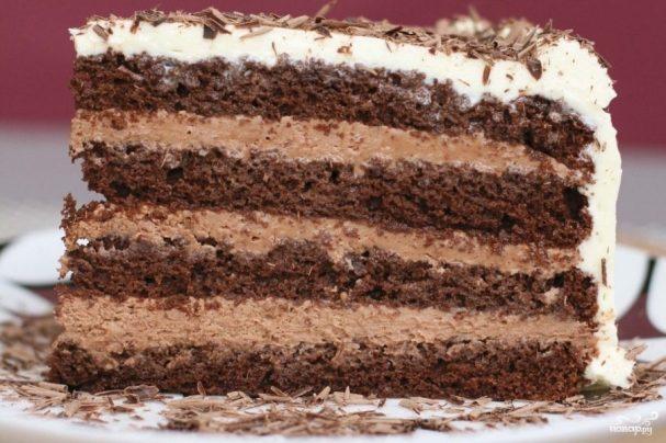 Шоколадный слоеный торт