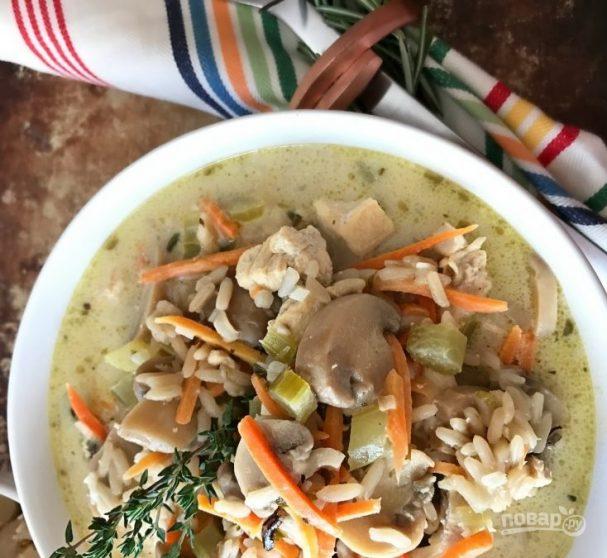 Грибной суп из маринованных грибов
