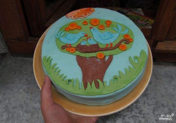 Детский торт с мастикой своими руками