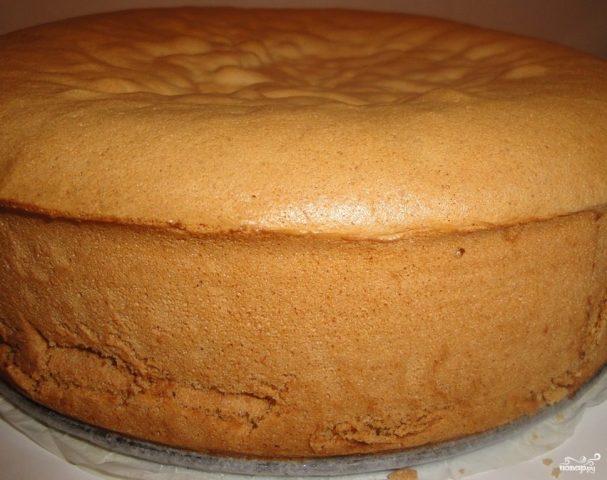 Бисквит со сметаной