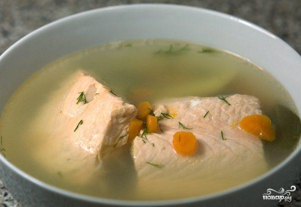 Суп с рыбным филе
