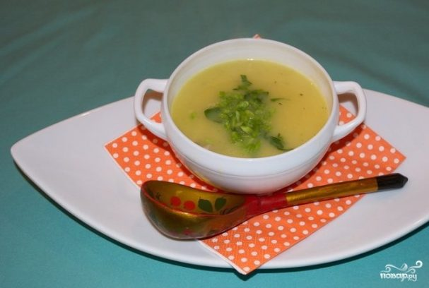 Суп-пюре картофельный с курицей