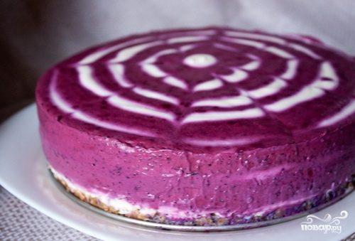 Черничный торт без выпечки