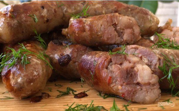 Вкусные и сочные домашние колбаски