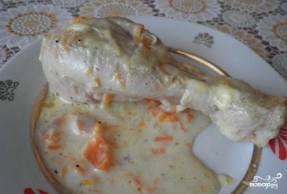 Куриные ножки в сырном соусе