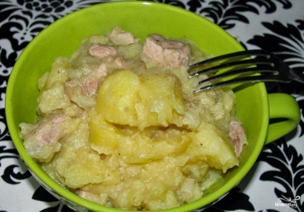 Как потушить картошку с мясом в кастрюле пошаговый рецепт с фото