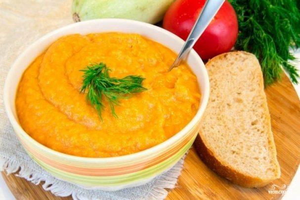 Кабачковая икра без моркови с томатной пастой