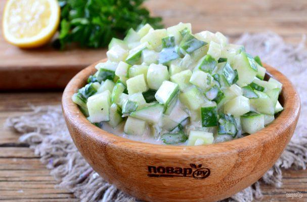 Диетический салат «Огурец в йогурте»
