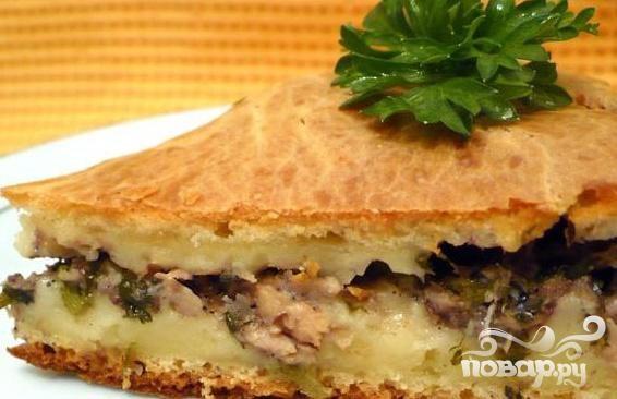 Пирог с тунцом рецепт