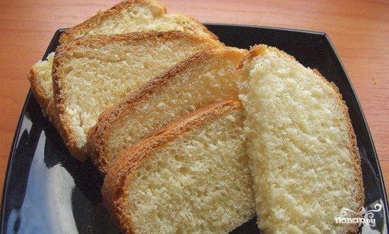 Хлеб на кефире в хлебопечке
