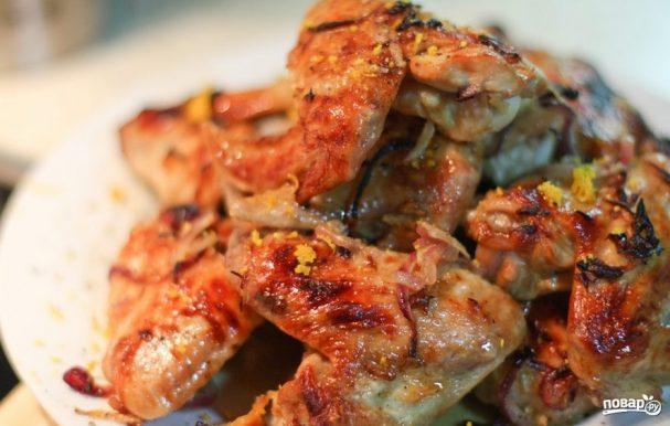 Крылышки индейки, запеченные в духовке
