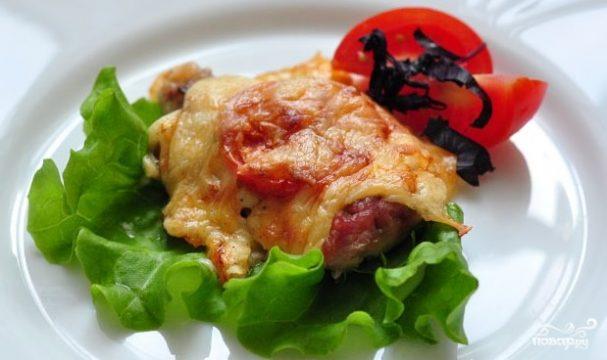 Говядина по-французски с помидорами