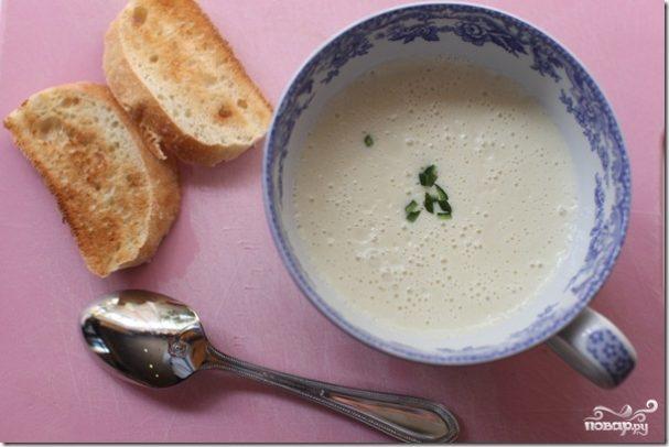 Суп-пюре чесночный