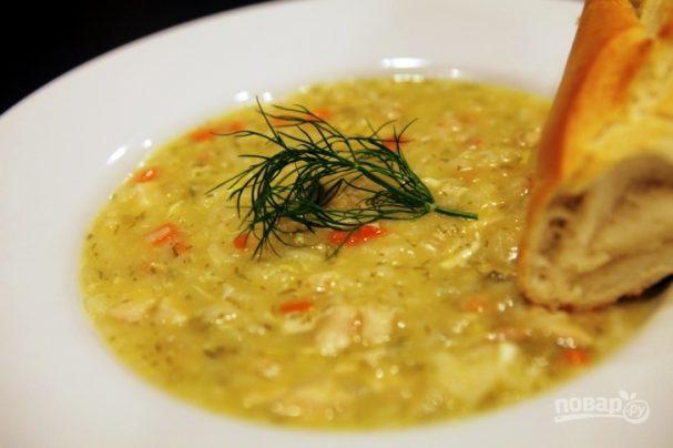 Куриный суп с рисом и лимоном