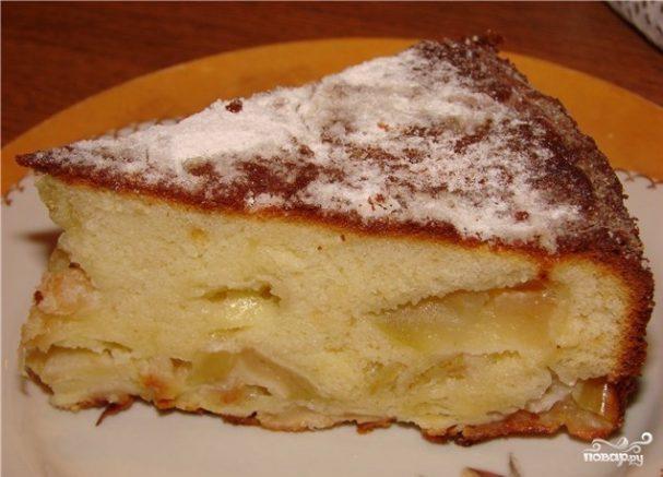 пирог на кефире с яблоками в мультиварке рецепты с фото