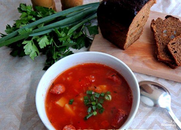 рецепт супа с фасолью и охотничьими колбасками