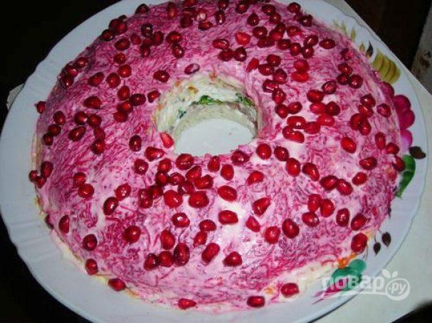 Рецепт салата «Гранатовый браслет»