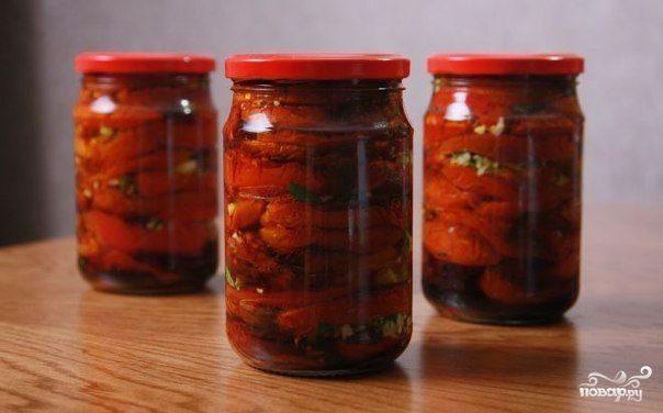 Помидоры с морковкой и перцем