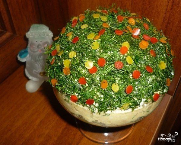 новогодний салат из печени трески рецепты с фото