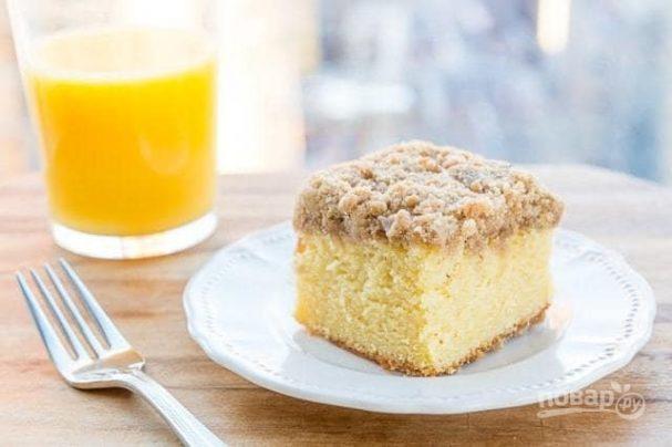 Апельсиновый кекс с топпингом