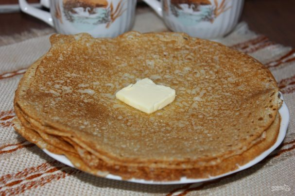 рецепт блинов классических без яиц