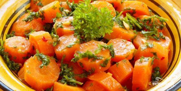 Морковь по-английски