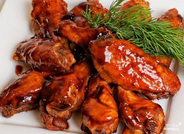 крылышки в кисло сладком соусе