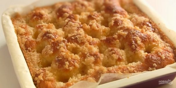 Сахарный пирог (простой рецепт)
