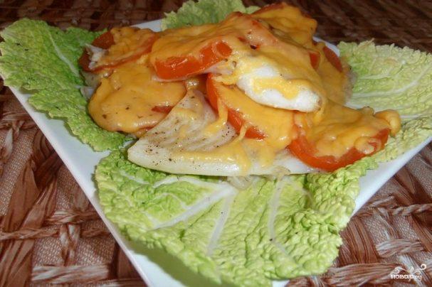 Тилапия в духовке с сыром