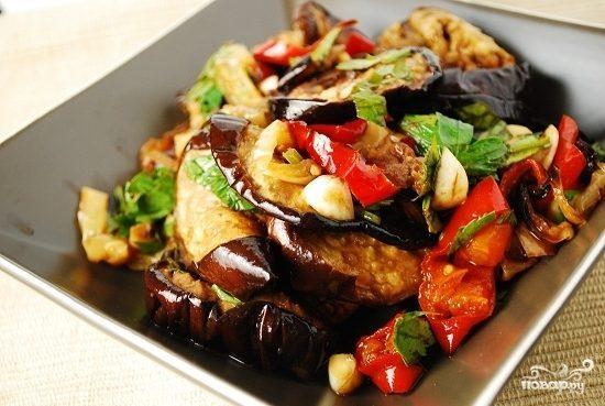 Баклажаны с картофелем по-китайски