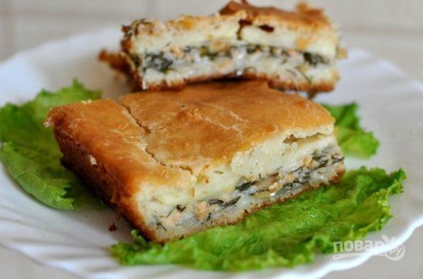 Пирог из рыбных консервов
