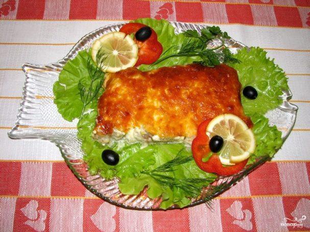 Рыба, запеченная с сыром