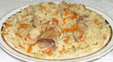 Плов из свинины на сковороде