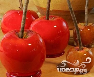 Яблоки в глазури