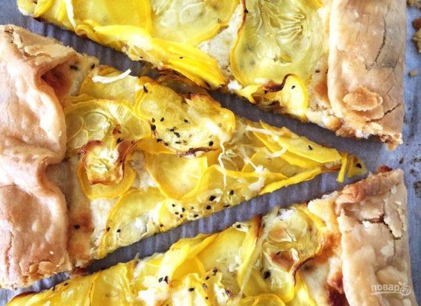 Легкий овощной тарт с сыром
