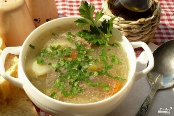 Суп из баранины с перловкой