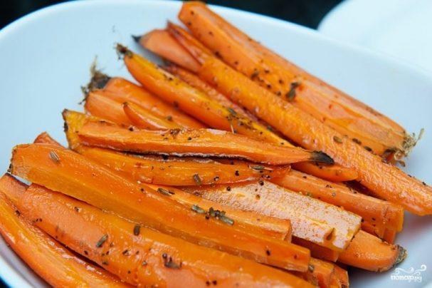 Запеченная морковь