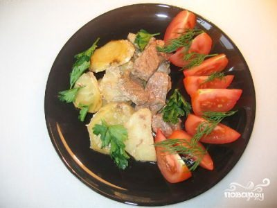 Говядина запеченная с картофелем