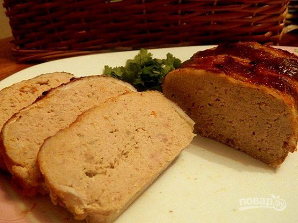 Мясной хлеб с беконом