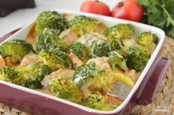 Запеканка с брокколи и картофелем
