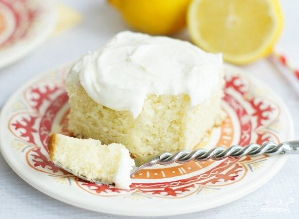 Лимонный пирог на сметане