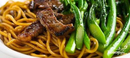 Лапша с говядиной по-китайски