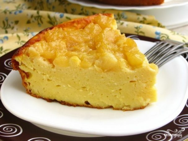 Творожный пирог с грушами