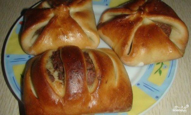 Дрожжевые пирожки с начинкой