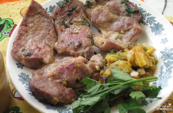 как приготовить свиную шейку на сковороде вкусно