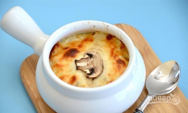 Жюльен из грибов с курицей